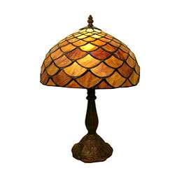Tiffany style Amber Shell Table Lamp
