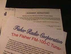Fisher FM 100 C Vacuum Tube Tuner Restoration Kit