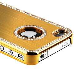 Bling Luxury Gold Snap on Case for Apple iPhone 4/ 4S