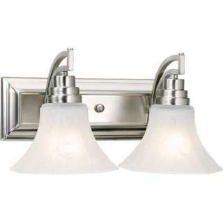 Forte Lighting Two Light Vanity Light with Octagon Marble