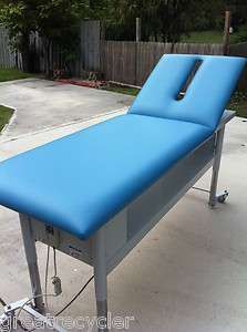 Electric Massage Table with Adjustable Back. Made by TRI W G