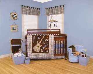 Trend Lab Rock Star 4 pc Baby Nursery Crib Bedding Set