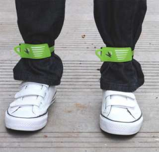 2pcs Cycling Bike Safety Bicycle Bind Trousers Pants Velcro Band Leg