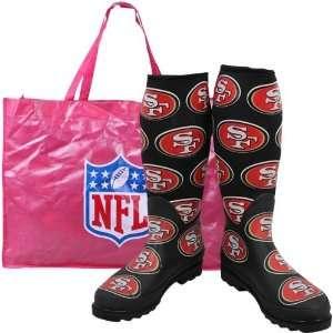 San Francisco 49ers Ladies Black Enthusiast Boots