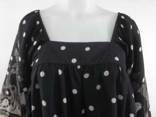 FINAL TOUCH Black White Polka Dot Print Mini Dress Sz M