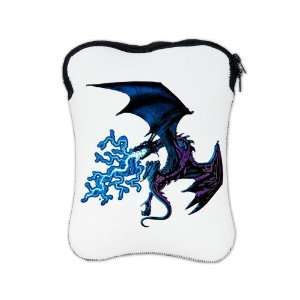iPad 1 2 & New iPad 3 Sleeve Case 2 Sided Blue Dragon with