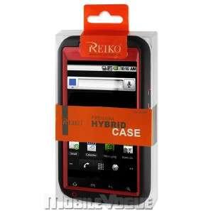 Hybrid Case Skin Cover for ZTE Warp Boost Mobile Black&Red