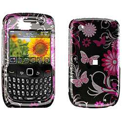 Blackberry Curve 8520 Pink Butterfly Design Case