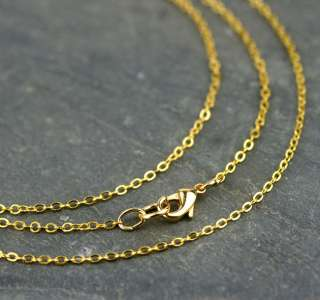 Gold Plated Brass Link Cable Chain Necklace Gold Necklace 1.6mm cn402