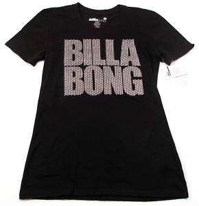 Billabong Black/Silver Glitter Tee Shirt Juniors NWT