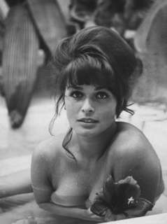 Austrian Actress Senta Berger During the Time She Was Shooting the
