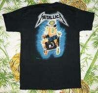 METALLICA Vintage Concert SHIRT 80s TOUR T RARE ORIGINAL 1987 Metal