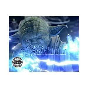 Star Wars Yoda Force Lightning Print Toys & Games