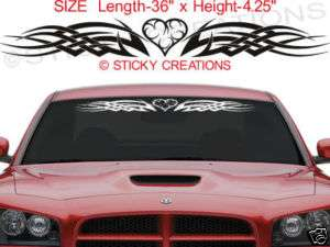 128 HEART Windshield Tribal Stickers Decal Graphic Car