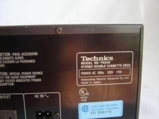 Technics RS TR210 Stereo Dual Cassette Deck