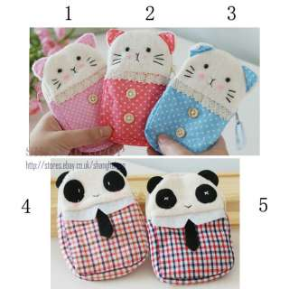 Panda Cat Cell Phone Pouch Mobile Bag Kitten Purse Case Cover for iPod