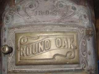 Round Oak Stove Model 18 0 3