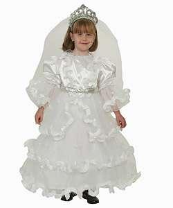 Deluxe Fancy White Bride Dress Costume