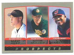 Topps Prospects Card #155 CC Sabathia & Mark Mulder; Nm Mint