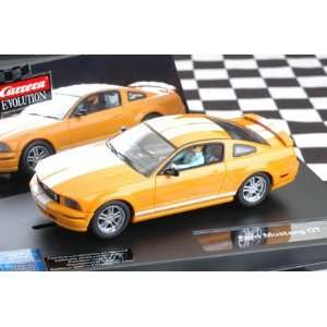 Carrera Evolution 1/32 Ford Mustang GT Slot Car   Orange w