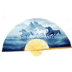 Hand Painted Fan Horses 35