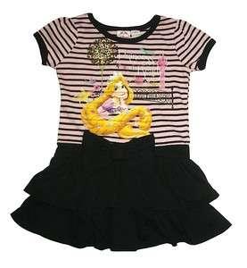 Princess TANGLED RAPUNZEL Ruffle Layer Boutique Dress Top 2T 6X