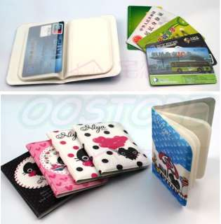 Card Pocket Bag Holder Wallet 5 Color Woman Man Cat Holder