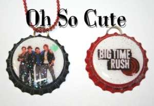 OhSoCute Big Time Rush Pendent Bottle Cap Necklace Set