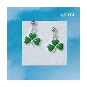 EP   C1895   Irish Three Leaf Clover   Post Earrings Arts
