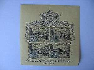 1952 Stamp Centenary Miniature Sheet from Vatican