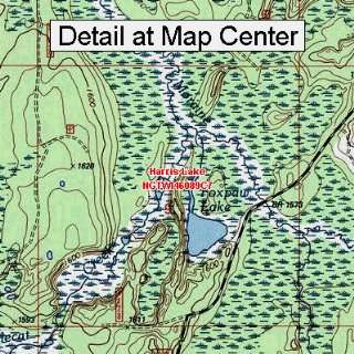 USGS Topographic Quadrangle Map   Harris Lake, Wisconsin