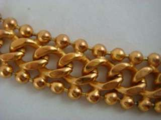 Vintage Anne Klein Chunky Gold Tone Chain Necklace