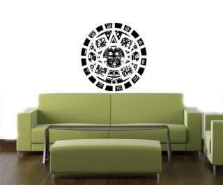MAYAN CALENDAR CUTE WALL VINYL STICKER DECALS ART MURAL T399