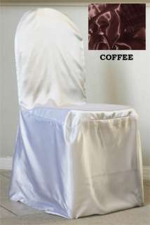 100 WEDDING Satin Banquet Chair Covers for 11 color