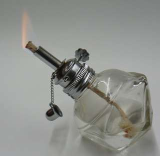 ALCOHOL LAMP GLASS ALCOHOL BURNER WITH ADJUSTABLE WICK
