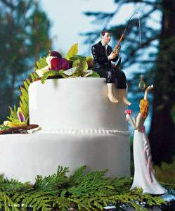 Hooked on Love Wedding Cake Topper Centerpiece