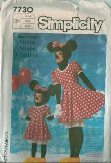 Disney Mickey or Minnie Mouse Costume Sewing Pattern Halloween