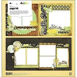 Basic Grey Origins 12x12 inch Scrapbook Page Kit