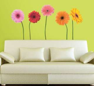 DAISIES GiAnT Wall Stickers Mural Room Decor Flowers Daisy Kids Decals