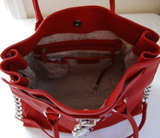 348 Michael Kors Hamilton Large Tote Red