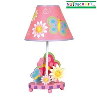 Guidecraft Butterfly Pink Kids Child Table Lamp 716243833670