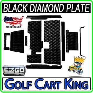 EZGO TXT Golf Car Diamond Plate Accessories Kit w/Floor