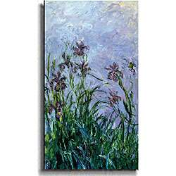 Claude Monet Les Iris Mauves Canvas Art