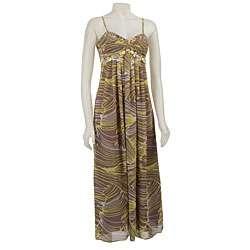 FINAL SALE Eliza J Womens Taupe/ Yellow Maxi Dress  Overstock