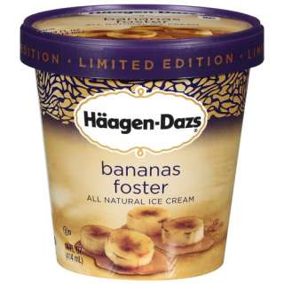 Dazs Limited Edition Bananas Foster Ice Cream, 14 oz Frozen Foods