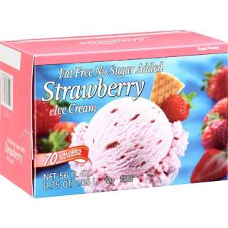 Great Value Fat Free Strawberry Ice Cream, 1.75 Qt Frozen Foods