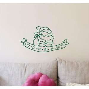 Easy instant decoration wall sticker wall mural  Santa and Christmas