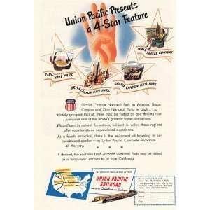 Ad 1947 Union Pacific 4 Star Feature Union Pacific Railroad Books