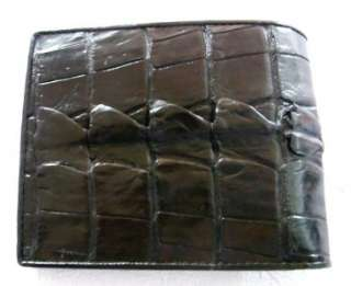 Soft Touch CROCODILE WALLET HORNBACK TAIL LEATHER MENS BIFOLD