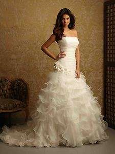 New Custom made White/Ivory Wedding Dress Size6 8 10 12 14 16 18